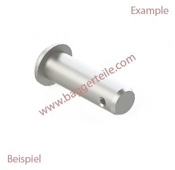0194002115 Bolzen Kpl.Fahne Verzinkt 50X198 unter anderem passend für Terex Schaeff